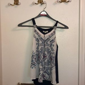 Multi pattern tank top